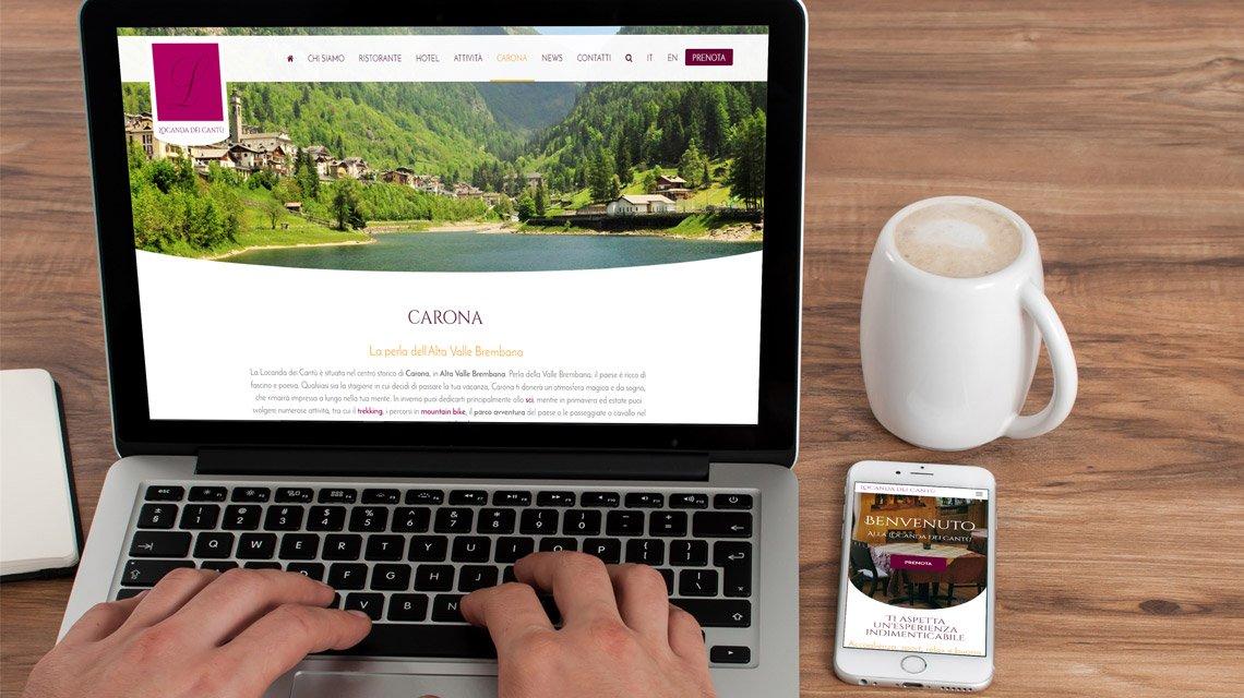 Nuovo sito Locanda dei Cantù - hotel e ristorante a carona