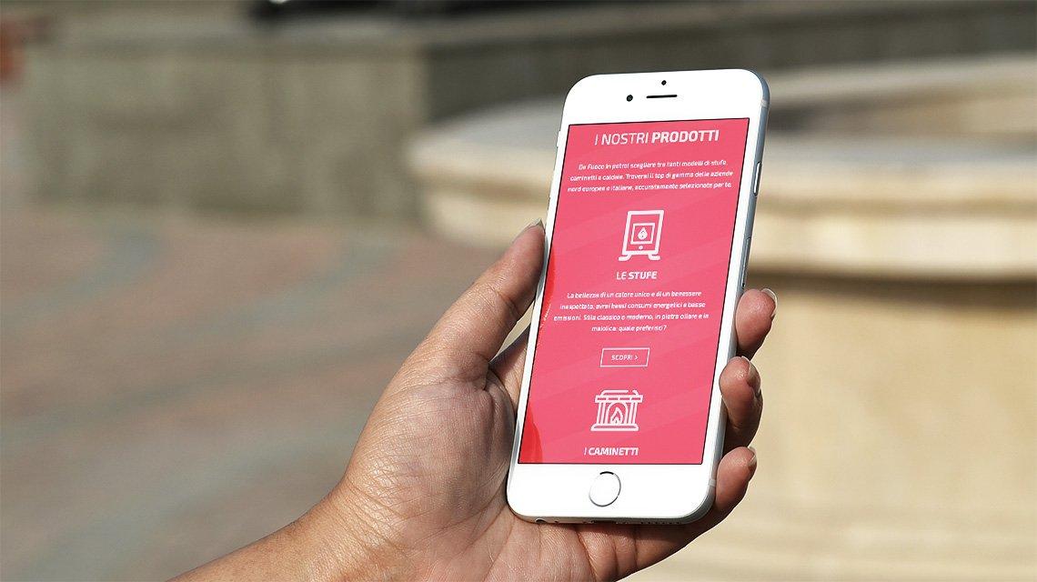 Fuoco in: rivenditore di stufe- sito da smartphone