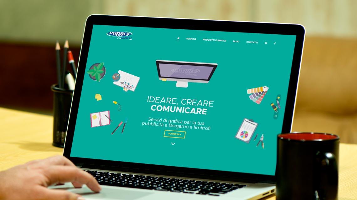 Nuovo sito di pubblygraph - agenzia grafica di Bergamo