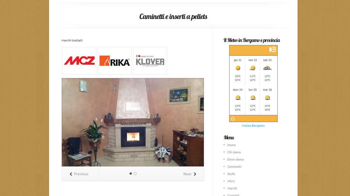 sito vecchio fuoco in: rivenditore di stufe e caminetti a Bergamo