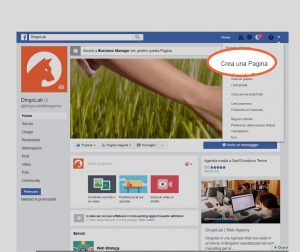 Creare pagina Facebook - passaggio 1