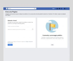 Creare pagina Facebook - passaggio 3