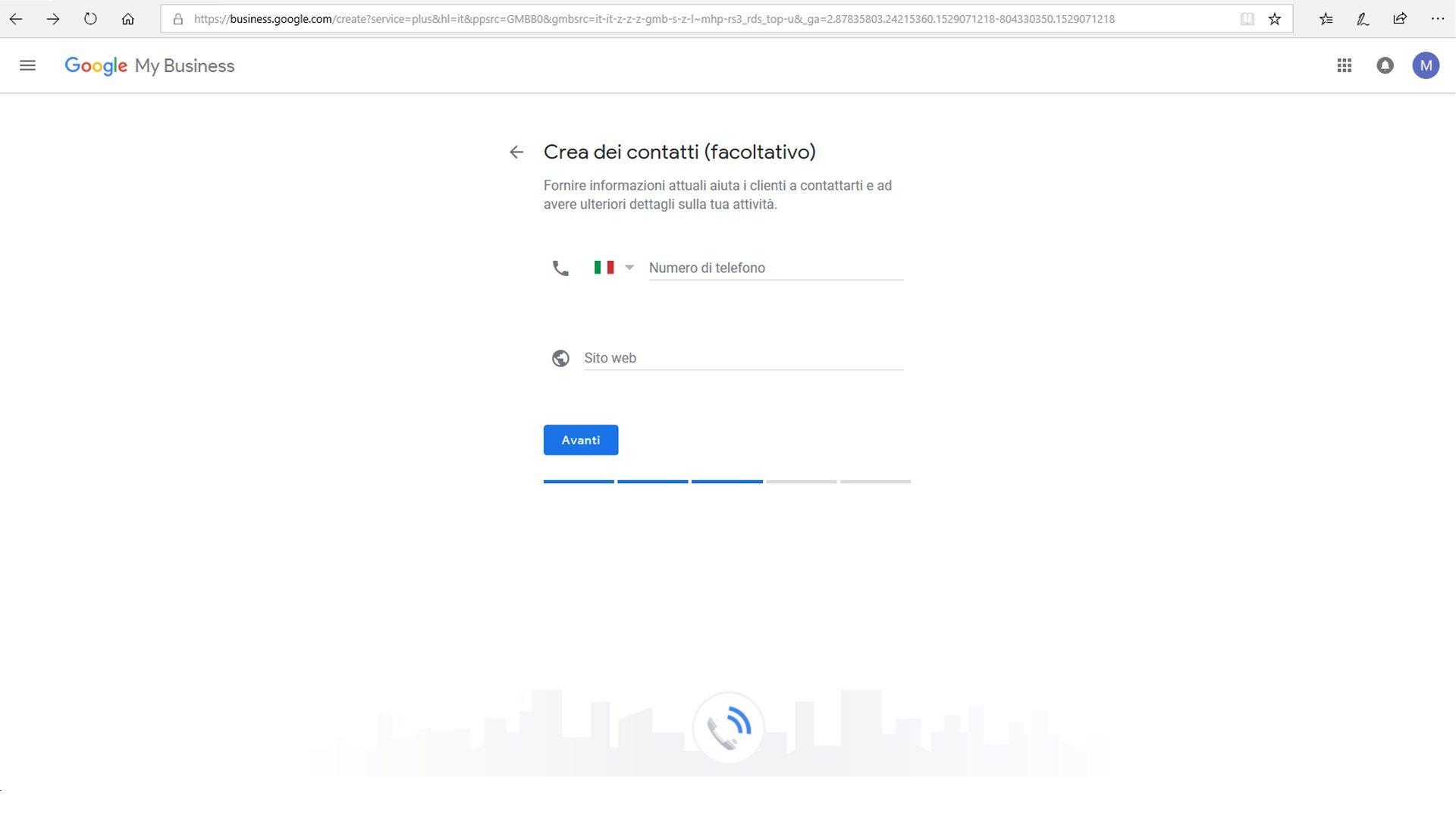 Inserire azienda su Google maps - passaggio 7 registrazione