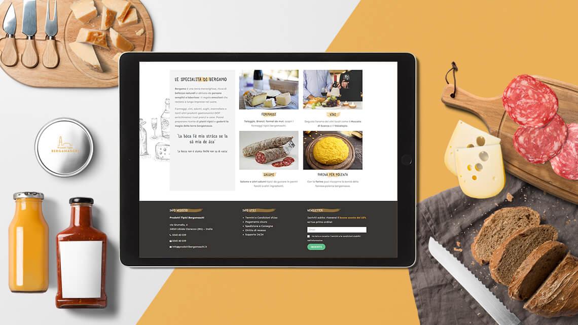Realizzazione web marketing per e-commerce - Prodotti Tipici Bergamaschi