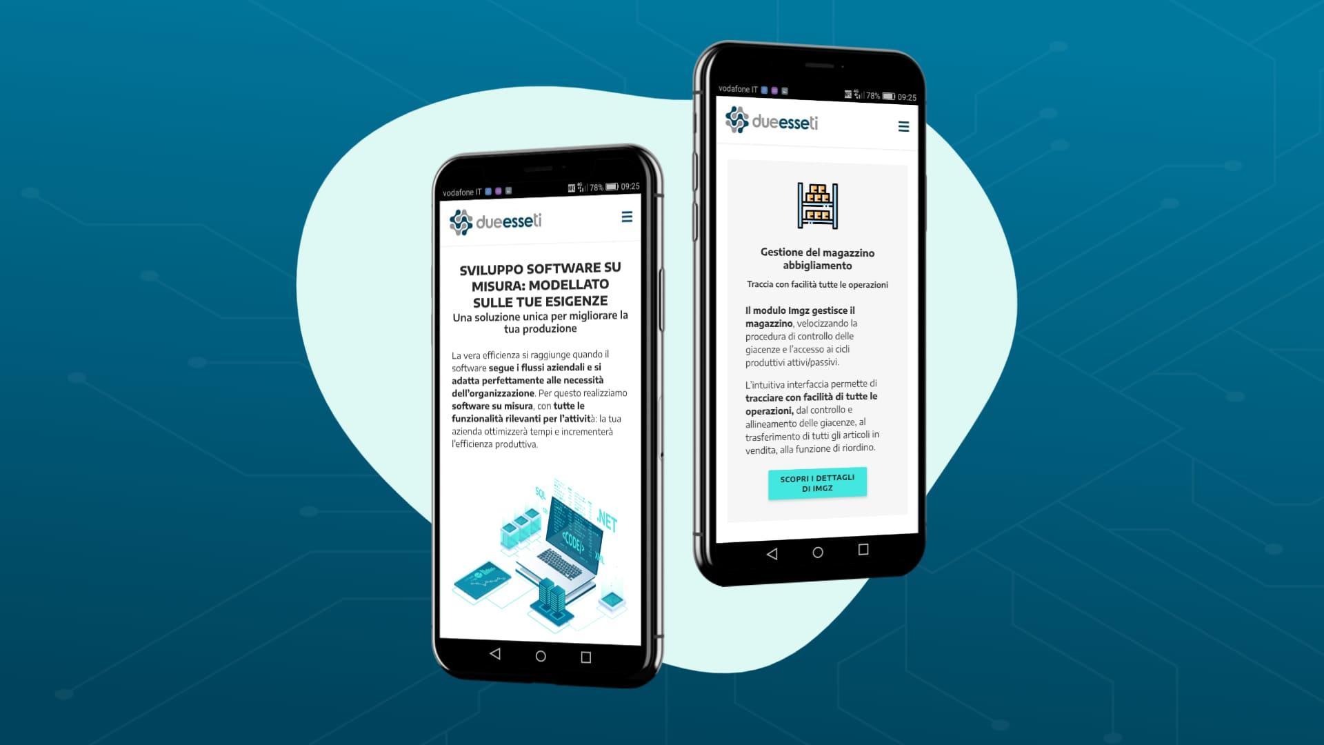 sito web per software house - 2esseti - smartphone