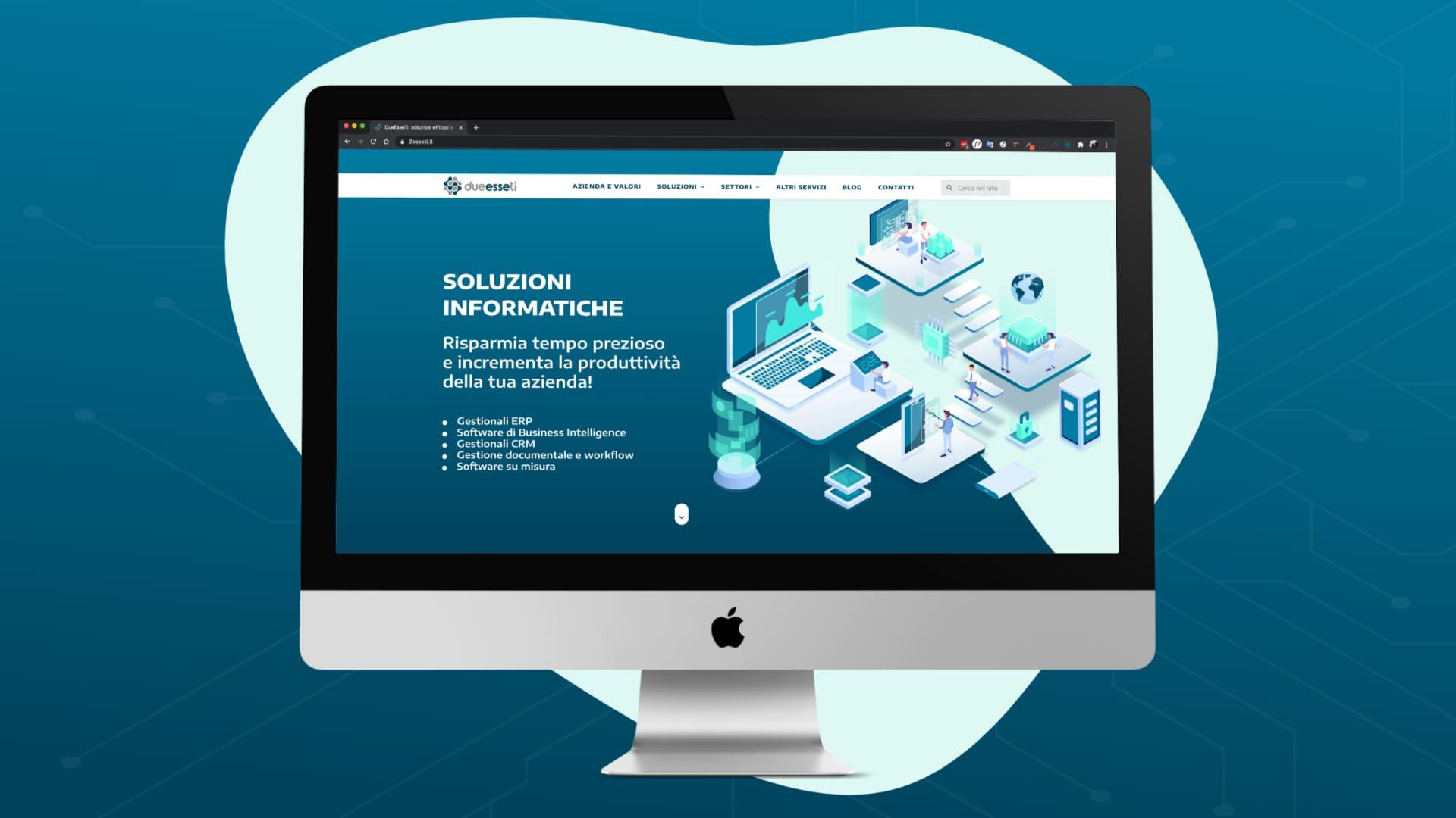 sito web per software house - 2esseti - pc