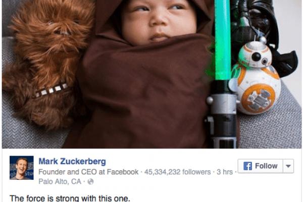 Mark Zuckerberg e Star Wars