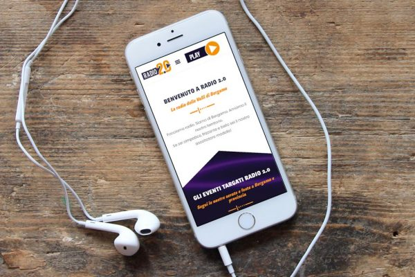 Nuovo sito Radio 2.0 - La Radio delle Valli di Bergamo